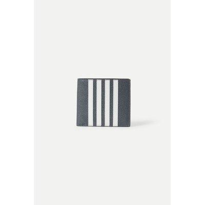 思思【新季】Thom Browne 2021春季男灰色牛皮革錢包NAP/NET-A-PORTER