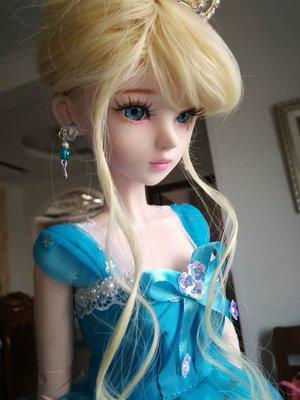 60釐米18歲女孩童話公主23關節bjdsd換裝大八比灰姑娘洋娃娃套裝