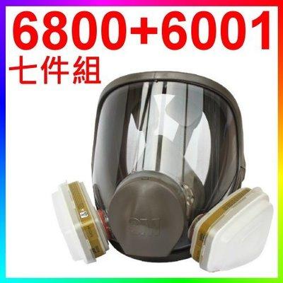 {CF舖}3M 6800+6001 防毒面具七件組(另有3200 3744K 6003 6200 7502 大全套)