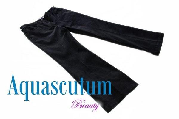 *Beauty*名牌精品Aquascutum 黑色燈心絨條絨長褲 30.5吋腰可穿