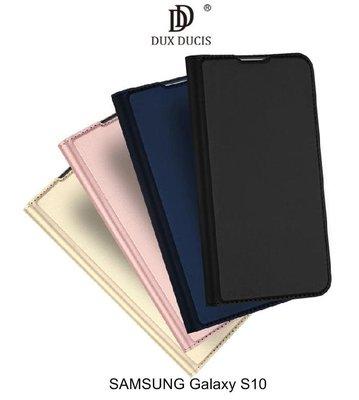 --庫米--DUX DUCIS SAMSUNG S10+/S10 奢華簡約側翻皮套 可站立 可插卡 保護套