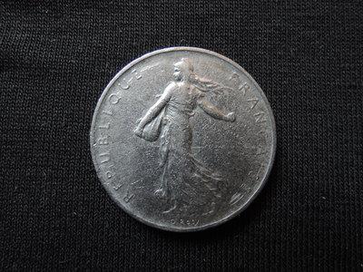 【寶家】古外幣收藏 法國1960年 1 F 女神錢幣 直徑24mm 【品項如圖】@331