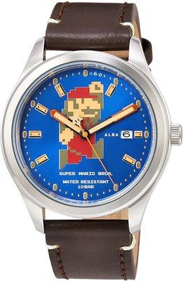 日本正版 SEIKO 精工 ALBA ACCA401 超級瑪利歐 瑪利歐 手錶 機械錶 皮革錶帶 日本代購