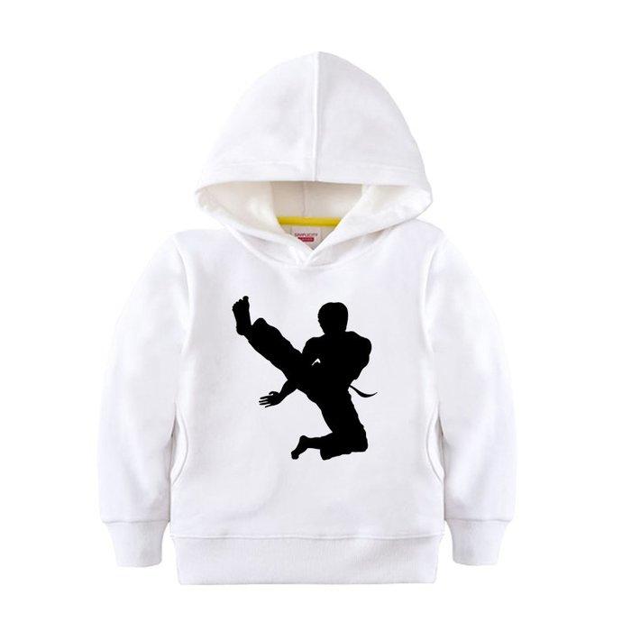 【童裝】韓版太極拳散打拳擊搏擊格斗練武術連帽外套男女上衣服裝兒童百搭衛衣親子