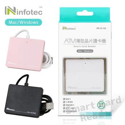 infotec IC102 ATM薄型晶片讀卡機-黑色/粉紅/白色 INF-IC-102
