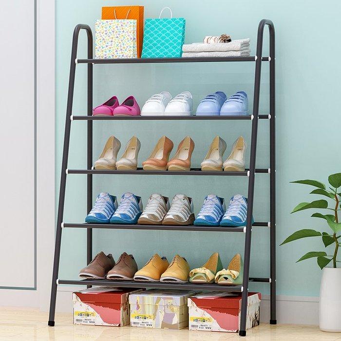 居家 置物架 鞋架 收納架 簡約 創意 簡易鞋架 多層家用收納鞋柜鐵藝簡約現代經濟型防塵鞋架子