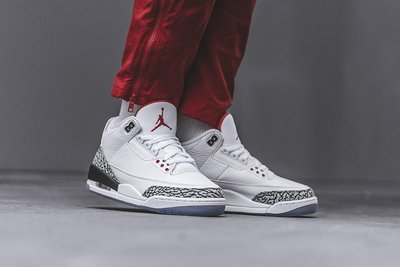 Air Jordan 3 Free Throw Line White Cement白灰黑923096-101白水泥罰球線