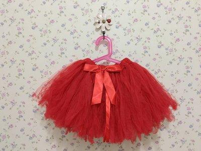 瞳媽の二手衣-美國童裝 Ruffle Butts 二手 紅色 膨紗裙 2-4T