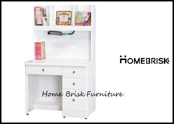 【宏興HOME BRISK】烤白3尺書桌(全組),台北市、新北市市區免運費《HN新品15》