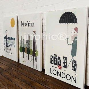 INPHIC-巴黎紐約倫敦客廳無框畫三聯畫臥室沙發背景裝飾畫歐美現代簡約