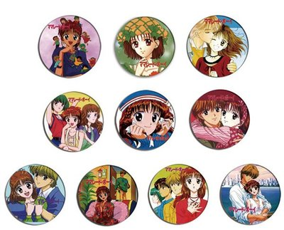 現貨 MARMALADE BOY 果醬少年 anime Pin Pinback BADGE SET 1b 動漫畫襟章徽章髮繩磁石貼鑰匙扣 (一套10個)