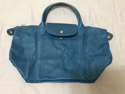 Longchamp Le Pliage 冰藍色Glacier S號小羊皮(二手)4688元超低價起標