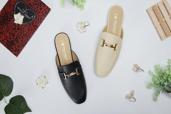 富發牌。女鞋。1PE79 都會優雅印象穆勒鞋 (杏/黑)(23-25.5號)~nanakids娜娜童櫥