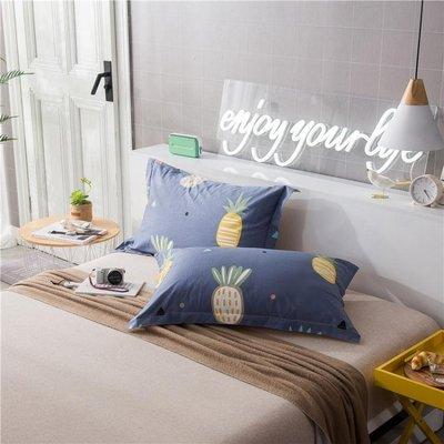 全棉枕套一對裝棉質枕頭套2只床上用品 LQ4520