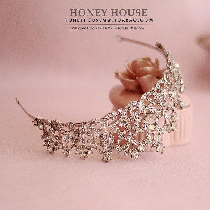 東大門平價鋪   新款韓式公主大皇冠, 新娘頭飾王冠髮箍,結婚婚紗配飾品髮飾禮物