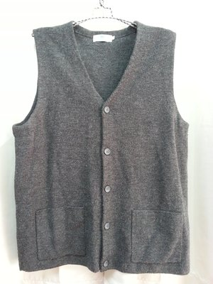 (M039)美國 Texwood 蘋果牌 灰色針織背心 質料超好超保暖  XL號~牧牧小舖~優質二手衣~