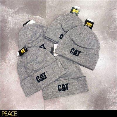 【PEACE】全新現貨 真品 Caterpillar_Trademark Cuff Beanie 灰色 毛帽 美國 工裝