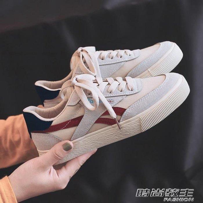 夏季新款帆布鞋女韓版百搭學生原宿ulzzang休閒布鞋1992板鞋DBX