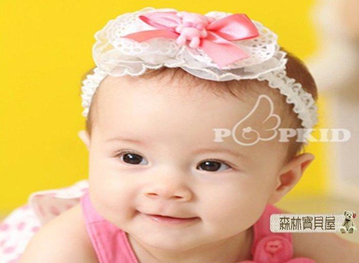 森林寶貝屋~韓款~寶寶小熊蝴蝶結髮飾~幼兒可愛髮帶~嬰兒髮飾~兒童頭帶~娃娃髮飾~公主髮箍~拍照必備