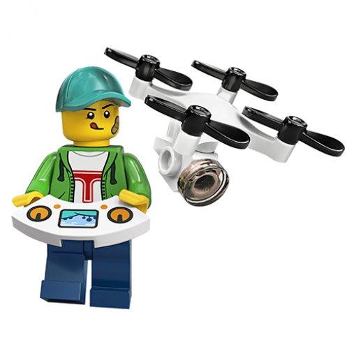 現貨【LEGO 樂高】積木/ Minifigures 人偶包系列: 20代 71027 | #16 遙控飛機男孩