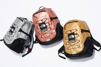 ☆LimeLight☆ Supreme x The North Face Metallic Backpack 背包