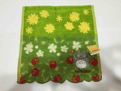 日本製 TOTORO 紅梅草地小手帕