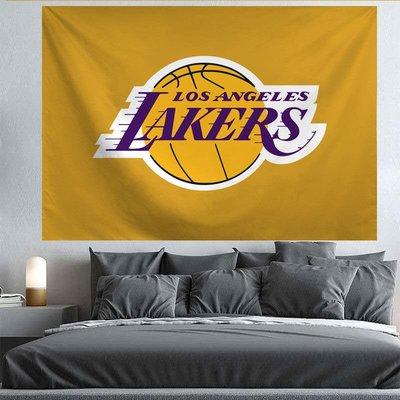 NBA球隊背景布 ins掛毯臥室房間墻宿舍床頭裝飾墻面網紅背景墻布