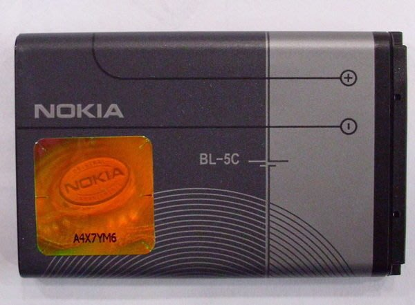原廠全新電池 (BL-5C) N70 N106 E50 E60 7600 7610 1681 C1-02 2730c 1616 1600 N100 N101