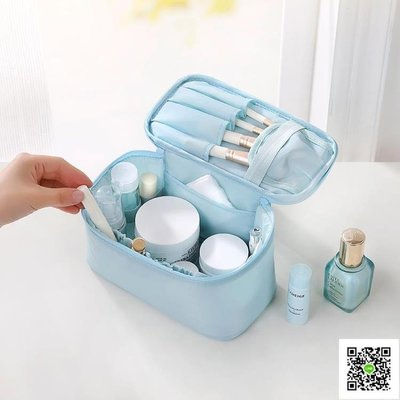 旅行化妝包小號便攜收納包簡約大容量洗漱包韓國可愛手拿包