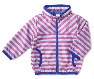 日本DADWAY Apparel女童條紋防風外套(紫色)-90cm clearance sale