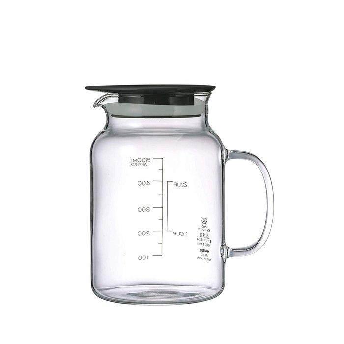 [霜兔小舖]日本代購 日本製 HARIO 水果醋 水果酒 醃製 附手把玻璃壺  500ML