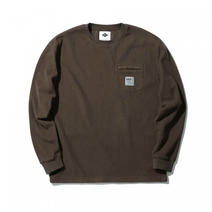 ☆AirRoom☆【現貨】MADNESS POLAR FLEECE LONG SLEEVE POCKET TEE 口袋T