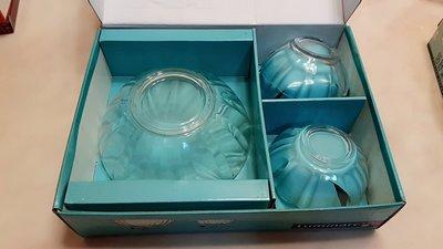 法國 Luminarc 玻璃水果碗盤 樂美雅 透明玻璃盤 ARCADE 系列  材質厚實碗緣波浪  造型玻璃碗5入裝