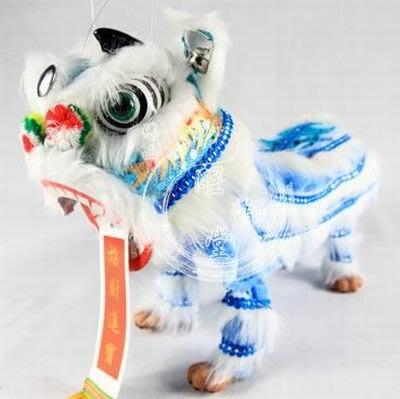 【定制木偶獅-長約38cm-1款/組】提線木偶兒童醒獅頭舞獅子道具佛山舞獅幼兒玩具-3001002
