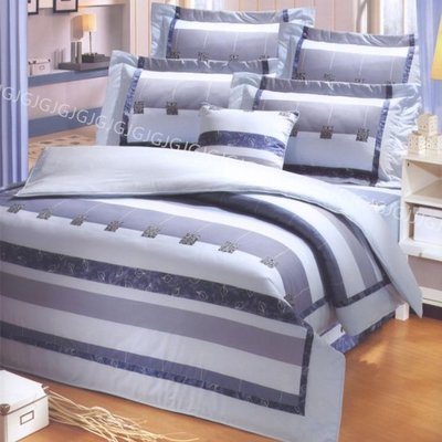 淇淇的賣場~藍2950 雙人床罩組 專櫃畢卡索美國綿台灣製造 100%純綿精梳棉美國棉床組,加高床可使用,可訂做任何尺寸