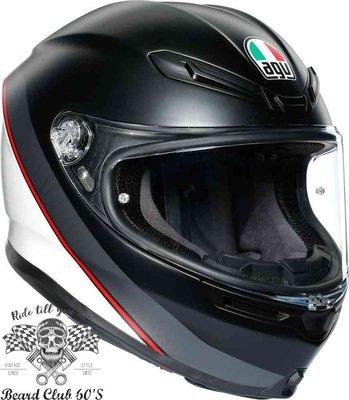 ♛大鬍子俱樂部♛ AGV ® K-6  Minimal 義大利 超輕量 全罩 安全帽 190度超廣視野 消光 白/黑