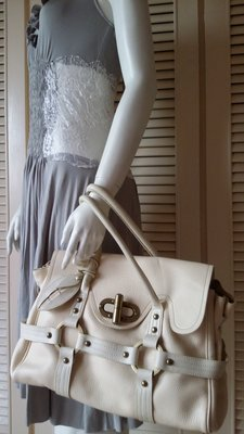 少用近新【Luella】白色Stevie手提大包
