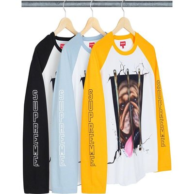 【美國鞋校】預購 SUPREME SS20 Dog Raglan L/S Top 長T