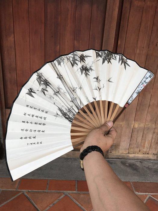 夏天來了消暑聖品古早味正濃扇子風清大扇中國風老祖宗的智慧結晶竹林寺實物拍攝