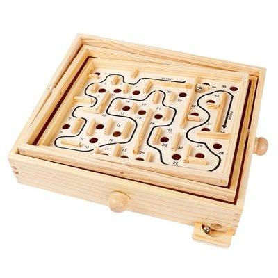 智力迷宮玩具走珠滾珠平衡專注力訓練游戲5-6歲玩具木質軌道游戲