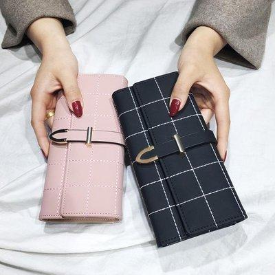 ZIHOPE 新款手拿女士錢包女長款大容量多功能磨砂時尚錢夾皮夾日韓版ZI812