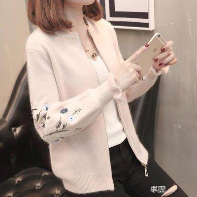 ZIHOPE 女新款短款針織開衫女毛衣外套女裝百搭寬鬆韓版上衣女潮ZI812