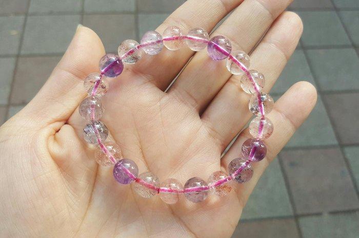 【天然水晶礦石】 三輪骨幹水晶 超七水晶 手鍊
