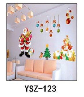八號倉庫  壁貼 兒童房/店面佈置卡通DIY牆貼/壁貼.情境壁貼聖誕款【1F-YSZ123】