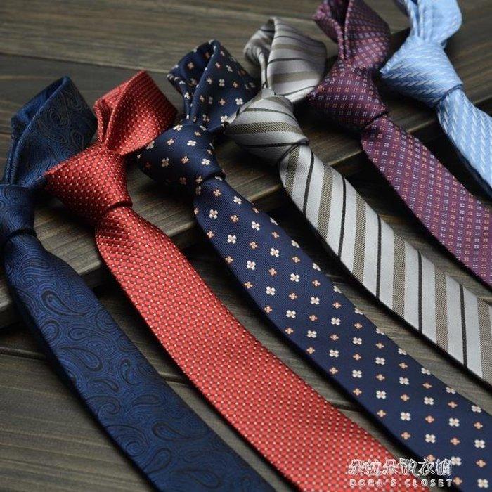 韓版5cm男女商務正裝窄版小領帶男士結婚新郎英倫學生職業潮