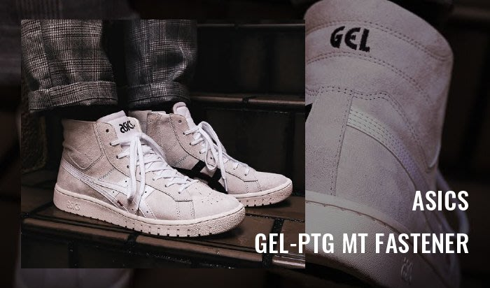 XinmOOn Asics GEL-PTG MT FASTENER 休閒 刺繡 休閒鞋 亞瑟士 高筒 經典 黑 男女