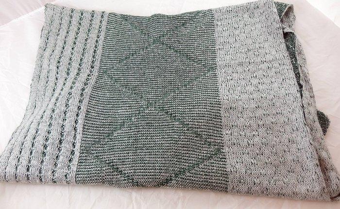 近全新綠色男性中性圍巾長巾長圍巾,商品請見圖示!免運費!