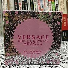 【木風小舖】轉賣VERSACE Bright Crystal Absolu.絕對香戀水晶女性淡香*50ml