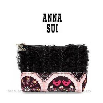 february 小舖 - [全新真品] ANNA SUI 奢華古典蕾絲和平鴿化妝包 手拿包