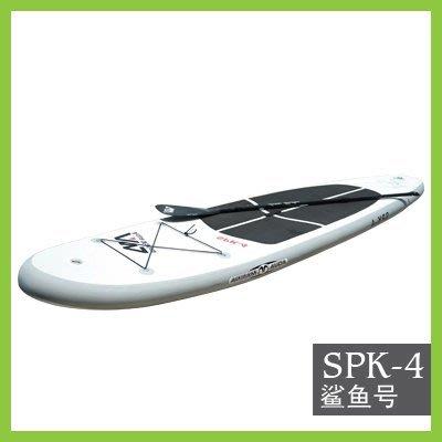 【充氣式站立多功能水橇板-SPK4-基本款+單頭漿-365*82*15cm-1套/組】樂划充氣式衝浪板-76033